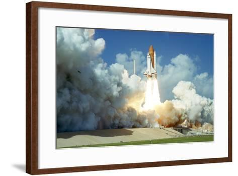 Launch of Space Shuttle Challenger from Kennedy Space Center, Florida, USA, 1985--Framed Art Print