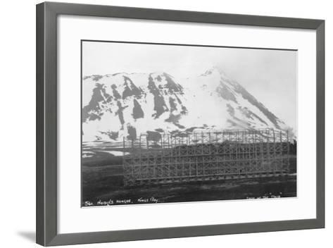 Umberto Nobile's Hangar, Base of the Airship 'Italia, Kongsfjorden, Spitzbergen, Norway, 1929--Framed Art Print