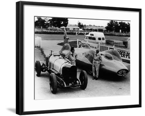 Donald Campbell with a Sunbeam 350 and Leo Villa with Bluebird, C1964--Framed Art Print