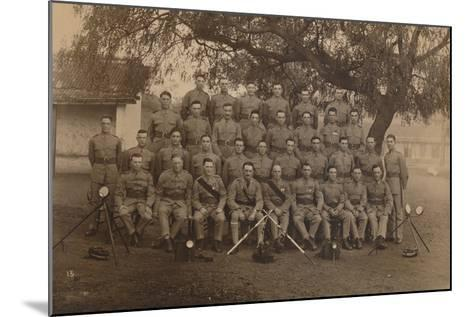 The Battalion Signallers of the First Battalion, the Queen's Own Royal West Kent Regiment--Mounted Photographic Print