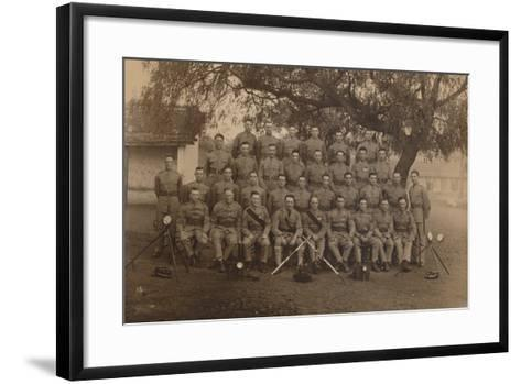 The Battalion Signallers of the First Battalion, the Queen's Own Royal West Kent Regiment--Framed Art Print