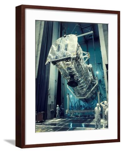 Testing the Hubble Space Telescope , 1980s--Framed Art Print