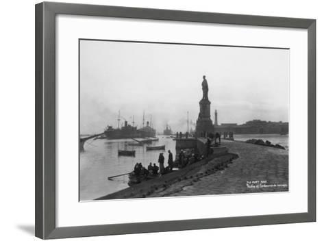 Statue of Ferdinand De Lesseps, Port Said, Egypt, C1920s-C1930s--Framed Art Print