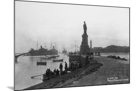 Statue of Ferdinand De Lesseps, Port Said, Egypt, C1920s-C1930s--Mounted Photographic Print