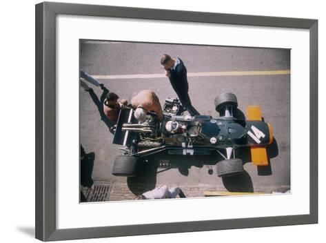 John Surtees in His Brm at the British Grand Prix, Silverstone, Northamptonshire, 1969--Framed Art Print
