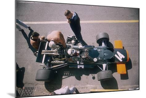 John Surtees in His Brm at the British Grand Prix, Silverstone, Northamptonshire, 1969--Mounted Photographic Print