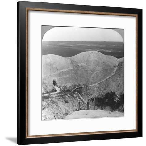 Mine Crater at La Boiselle, the Somme, France, World War I, C1916-C1918--Framed Art Print