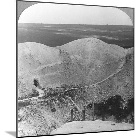 Mine Crater at La Boiselle, the Somme, France, World War I, C1916-C1918--Mounted Photographic Print