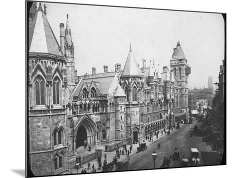 New Law Courts, London, Late 19th Century--Mounted Photographic Print