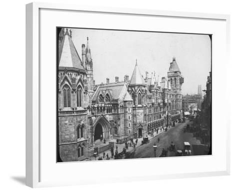 New Law Courts, London, Late 19th Century--Framed Art Print