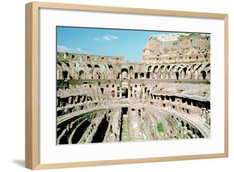 Inside the Colosseum, Rome, Italy--Framed Art Print