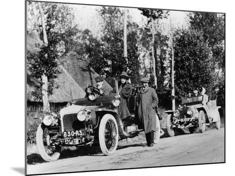 A Comparative Trial Between a Daimler and Rolls Royce Silver Ghost, C1909--Mounted Photographic Print