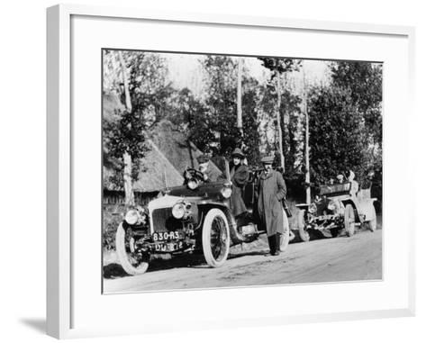 A Comparative Trial Between a Daimler and Rolls Royce Silver Ghost, C1909--Framed Art Print