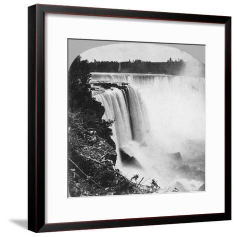 Horseshoe Falls as Seen from Goat Island, Niagara Falls, Early 20th Century-George Barker-Framed Art Print