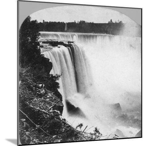 Horseshoe Falls as Seen from Goat Island, Niagara Falls, Early 20th Century-George Barker-Mounted Photographic Print