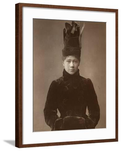 Marie Tempest, British Actress and Singer, 1888-Ernest Barraud-Framed Art Print