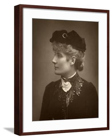 Harriett Jay, British Author and Playwright, 1888-Ernest Barraud-Framed Art Print