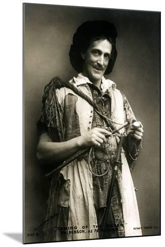 Frank Benson (1858-193), English Actor and Theatre Manager, Early 20th Century-J Caswall Smith-Mounted Photographic Print
