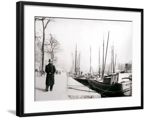 Policeman by a Canal, Rotterdam, 1898-James Batkin-Framed Art Print