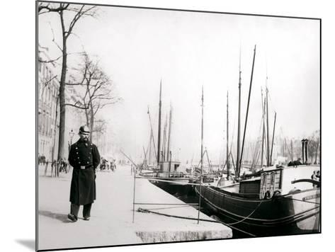Policeman by a Canal, Rotterdam, 1898-James Batkin-Mounted Photographic Print