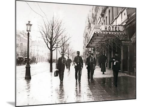 Guards on the Street, Brussels, 1898-James Batkin-Mounted Photographic Print