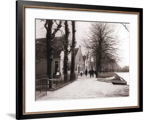 Canal Bank, Broek, Netherlands, 1898-James Batkin-Framed Art Print