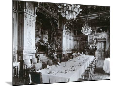 Dining Room of the Imperial Palace in Bialowieza Forest, Russia, Late 19th Century-Mechkovsky-Mounted Photographic Print