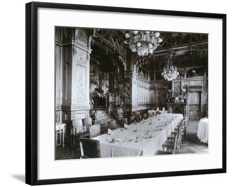 Dining Room of the Imperial Palace in Bialowieza Forest, Russia, Late 19th Century-Mechkovsky-Framed Art Print