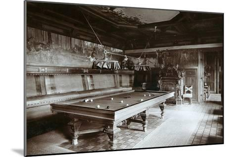 The Billiard Room, Imperial Palace, Bialowieza Forest, Russia, Late 19th Century-Mechkovsky-Mounted Photographic Print
