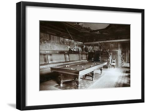 The Billiard Room, Imperial Palace, Bialowieza Forest, Russia, Late 19th Century-Mechkovsky-Framed Art Print