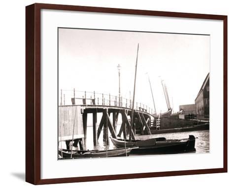 Canal Boats, Marken Island, Netherlands, 1898-James Batkin-Framed Art Print