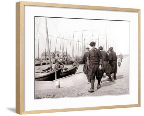 Men in Traditional Dress, Marken Island, Netherlands, 1898-James Batkin-Framed Art Print