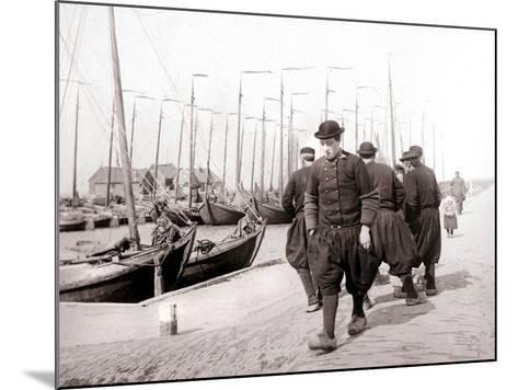 Men in Traditional Dress, Marken Island, Netherlands, 1898-James Batkin-Mounted Photographic Print