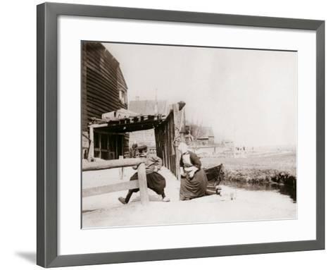 Children Playing, Marken Island, Netherlands, 1898-James Batkin-Framed Art Print