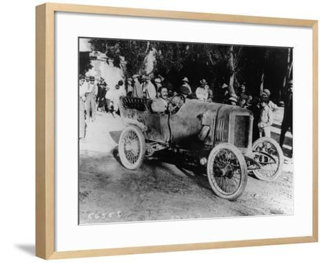 One of the Competitors at the Mont Ventoux Hill Climb, Provence, France, 1911--Framed Art Print
