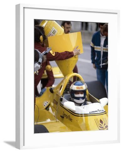 Keke Rosberg in a Fittipaldi-Cosworth F7, British Grand Prix, Brands Hatch, 1980--Framed Art Print