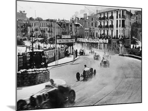 Action from the Monaco Grand Prix, 1929--Mounted Photographic Print