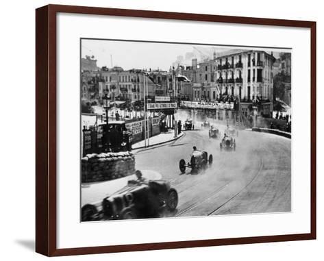 Action from the Monaco Grand Prix, 1929--Framed Art Print