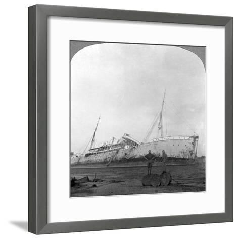 German Cruiser Sunk Off Dar Es Salaam, Tanzania, World War I, 1914-1918--Framed Art Print