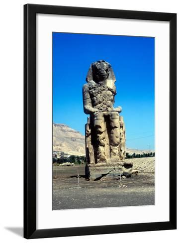 One of the Colossi of Memnon, Near the Valley of the Kings, Egypt, 14th Century Bc--Framed Art Print