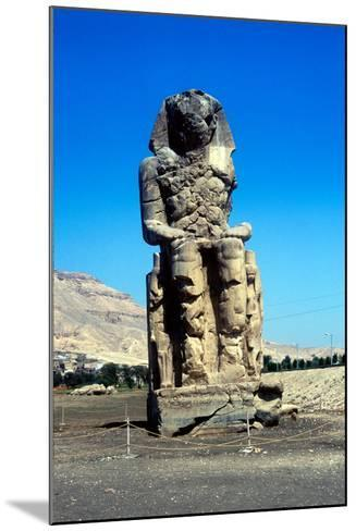 One of the Colossi of Memnon, Near the Valley of the Kings, Egypt, 14th Century Bc--Mounted Photographic Print