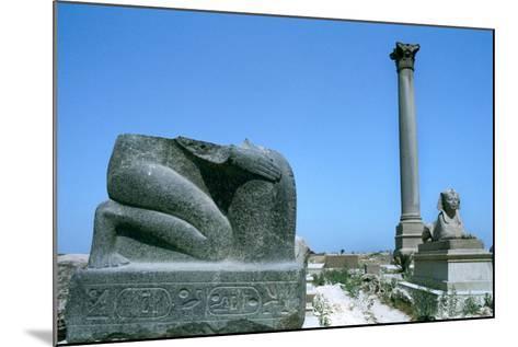 Pompey's Pillar, Alexandria, Egypt--Mounted Photographic Print