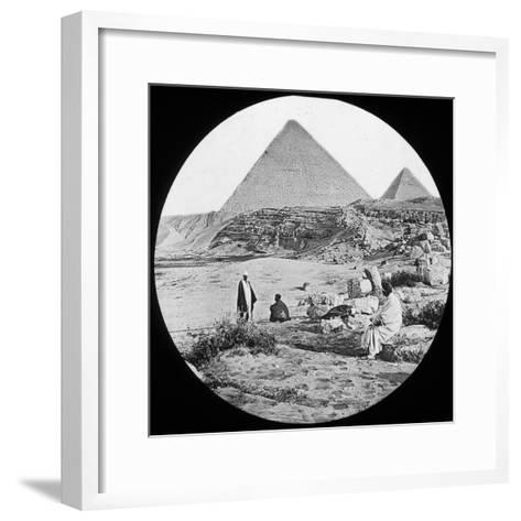 The Great Pyramids, Giza, Egypt, C1890-Newton & Co-Framed Art Print