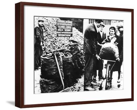 Winter Relief, Distribution of Coal, France 1940-1944--Framed Art Print