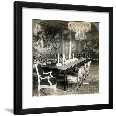 Council Chamber of King Oscar II, Royal Palace, Stockholm, Sweden-Underwood & Underwood-Framed Art Print