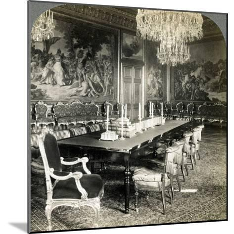 Council Chamber of King Oscar II, Royal Palace, Stockholm, Sweden-Underwood & Underwood-Mounted Photographic Print