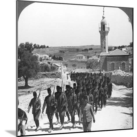 Defeated Turkish Soldiers, Palestine, World War I, C1917-C1918--Mounted Photographic Print