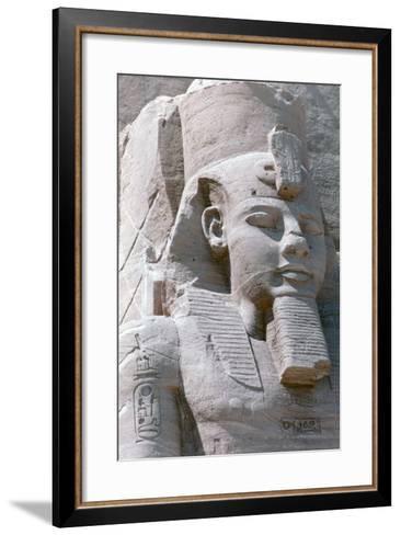 Colossal Statue of Rameses II, Temple of Abu Simbel, Egypt, 13th Century BC--Framed Art Print