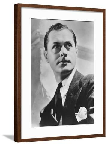Robert Montgomery (1904-198), American Actor and Director, 20th Century--Framed Art Print