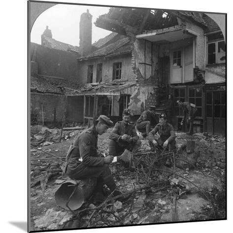 Houses Damaged by German Shellfire, Ypres Salient, Belgium, World War I, C1914-C1918--Mounted Photographic Print